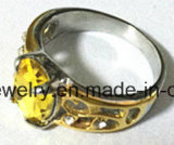 Anillo de la piedra del anillo de la joyería del acero inoxidable (SCR2895)