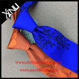 Laço de seda impresso de forma elevada 100% nó perfeito Handmade