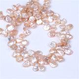 Diseño rosado de la joyería de Strandfor Costum de la perla del color de Keshi de los hilos de agua dulce de la perla