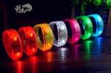 Pulsera impermeable plástica suave del LED