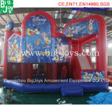 Ocean Theme Combustível inflável, combinação de slides infláveis Bouncer