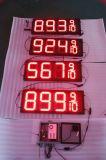 Hidly 12 인치 빨간 아시아 LED 주유소 표시