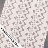 波パターンデザイン綿かナイロンレースファブリック