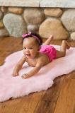 対の表面羊皮の柔らかい赤ん坊の床のカーペット