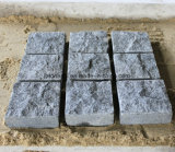 Pierre foncée de cube en granit du gris G654 de Padang