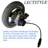 Motor sin cepillo eléctrico del sillón de ruedas de la C.C. con la palanca del regulador y de la palanca de mando