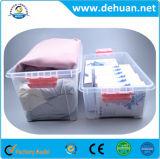 Rectángulo de almacenaje multi plástico/rectángulo de almacenaje de los cabritos con la maneta