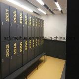 Gymnastik-Speicher-Schließfach der Reihe-2 bis 4 der Reihe HPL lamellenförmig angeordnetes