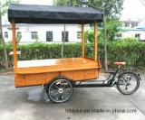 Fietsの行商人のバイクの道のコーヒー使用