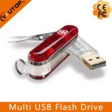 Clé de mémoire USB multifonctionnelle de couteau d'armée de cadeau fait sur commande (YT-1219)