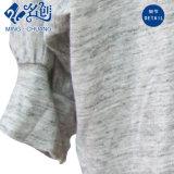 Camicetta elastica delle donne allentate del manicotto lungo rotondo grigio del collare