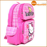 Pink Cute School Bag pour fille Hello Kitty Cartoon Backpack