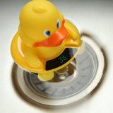 Juguete flotante de la bañera encantadora del pato con los termómetros del agua de la pantalla del LCD
