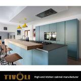 Кухня лака лоска Matt малая с белой дверью и черным Benchtop Tivo-0239h