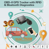 Perseguidor do GPS do carro OBD2 com Restore sem fio do batente do relé o motor, voz Tk228-Ez do monitor