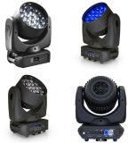 Nuovo indicatore luminoso capo mobile di illuminazione della fase del fascio/lavata/zoom 19*15W RGBW LED con controllo di temperatura del ventilatore