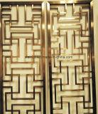 Écrans décoratifs modernes et partitions de pièce coupés par laser d'aluminium de modèle