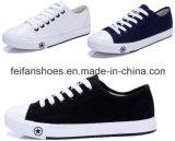 標準的な女性の良質(FF1026-02)の加硫させた偶然のズック靴