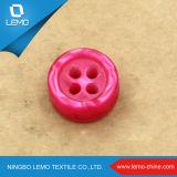 Botón de camisa plano plástico del botón de 4 orificios