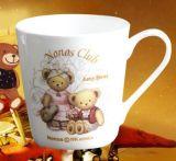 Taza de café linda de cerámica al por mayor de la etiqueta 12oz para los niños