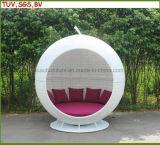 Rattan H-Esterno/presidenza di spiaggia genuina di vimini del Lounger della gente per la mobilia di amore