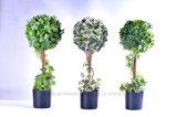 Завод различного цвета искусственний '' Topiary шарика ПЛЮЩА 10 в пластичном баке