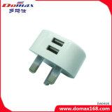 Carregador duplo do curso do USB do plugue BRITÂNICO do telefone móvel micro