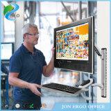 Jeo Ws02 movimiento de la rotación de 360 grados arriba y abajo del montaje del monitor de la estación de trabajo del monitor del ordenador