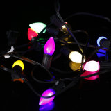 Bulbo ao ar livre plástico claro da recolocação do Natal da luz C9 da corda da novidade