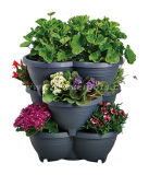 スタック可能プラスチック植木鉢(KD3331-KD3332)