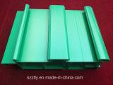 Perfil de aluminio de encargo revestido de la protuberancia del polvo verde