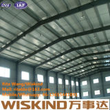 Одиночное здание мастерской пакгауза стальной структуры пяди, структура портальной рамки стальная