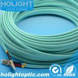 Cavo di zona di fibra ottica Om3 10g 3.0mm del Aqua duplex di LC