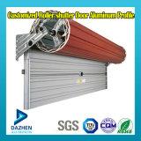 Perfil automático teledirigido del aluminio de la ventana de la puerta de la persiana enrrollable del rodillo