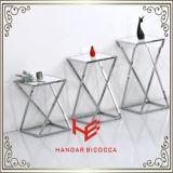 Mesa de consola (RS162401) Suporte de chá Mobiliário de aço inoxidável Mobiliário de casa Mobiliário de hotel Mobília moderna Mesa de mesa Mesa de chá Mesa lateral Torre de flores