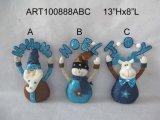 Figura ereta decoração do Natal com os presentes do Natal da faísca, 3asst