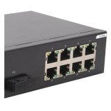 8 Schakelaar van het Netwerk Ethernet van de haven de Snelle met de Haven van 2 Gigabit SFP