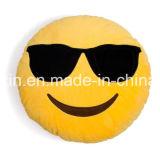 Изготовленный на заказ подушка Emoji взволнованности размера с мягкой тканью плюша