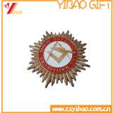 顧客のロゴの円形浮彫りの硬貨のギフト(YB-HD-33)が付いている旧式な真鍮のPltedの金メダル