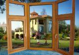 Самая последняя древесина Tempered стекла двойника конструкции и алюминиевое составное окно