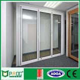 Porta deslizante vitrificada dobro de superfície de Finiluminum feita em China (PNOC225SLD)