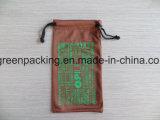 Bolsa de Microfiber del color del café para las lentes/las gafas de sol/el teléfono móvil