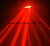 8PCS 10W het LEIDENE van RGBW 4in1 Bewegende Licht van de Spin