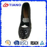 Популярные ботинки женщин плоских и удобных сандалий рыболова глянцеватые (TN36711)