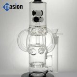El diseño determinado recicla el tubo de agua que fuma de cristal (AY 026)