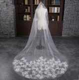 Velare morbido Ivory bianco di cerimonia nuziale della cattedrale della cappella del filato 2017 (Dream-100094)