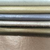 Fornitore di cuoio sintetico del PVC della tappezzeria metallica di modo