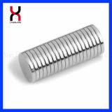 Aimant rond permanent de disque de nickel/zinc pour les métiers (D15*2mm)