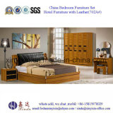 Malaysische hölzerne Bett-Hotel-Möbel-Schlafzimmer-Möbel (706A#)
