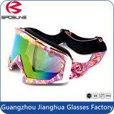 Opvouwbaar van Beschermende brillen van de Motocross van de Jeugd van de Lens van de Weg de de Kleurrijke Gekleurde/Bril van de Veiligheid van de Motorfiets